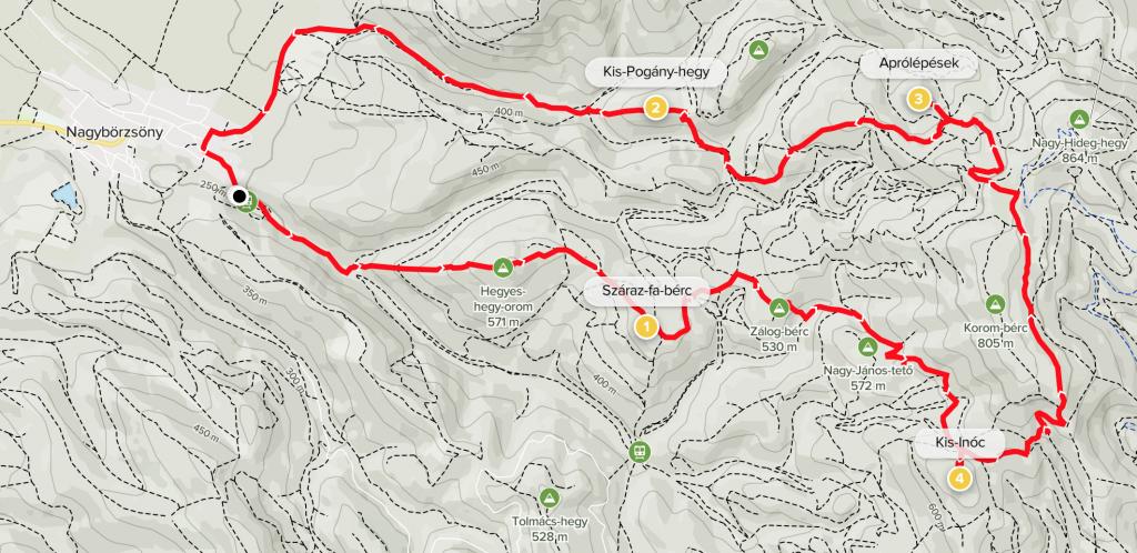 Peaks of Börzsöny track